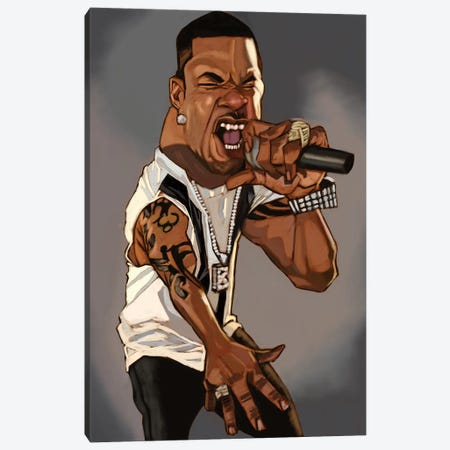 Busta Canvas Print #EVW10} by Evan Williams Canvas Wall Art