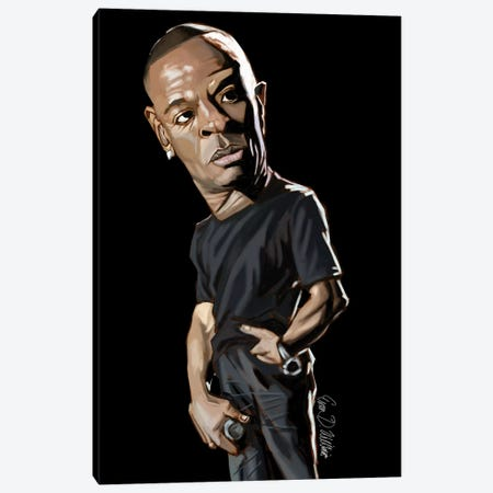 Dr Dre Canvas Print #EVW15} by Evan Williams Art Print