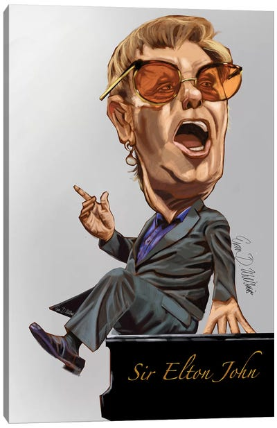 Elton Canvas Art Print