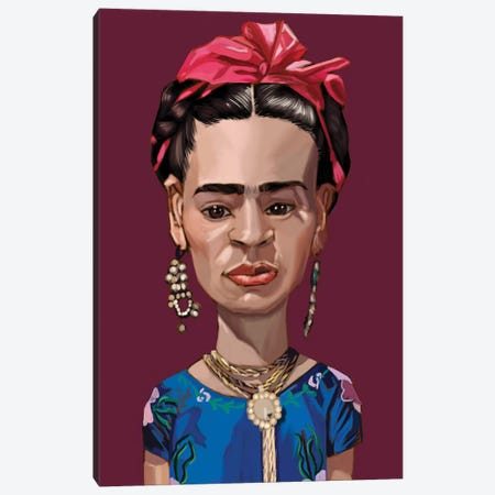 Frida Canvas Print #EVW19} by Evan Williams Canvas Artwork