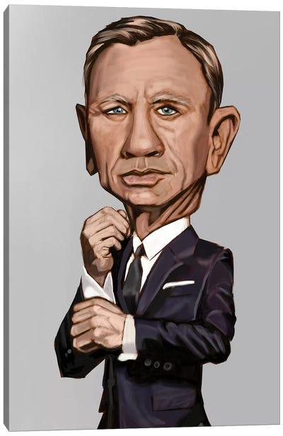 J. Bond (Dainel Craig) Canvas Art Print