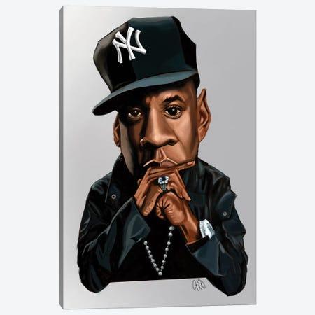 Jay-Z Canvas Print #EVW23} by Evan Williams Art Print