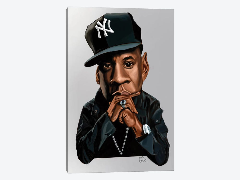 Jay-Z by Evan Williams 1-piece Canvas Art Print