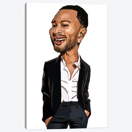 John Legend Canvas Print #EVW24} by Evan Williams Canvas Wall Art