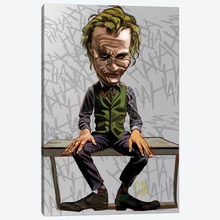 Joker Heath Canvas Print #EVW25} by Evan Williams Canvas Wall Art