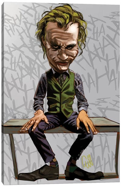 Joker Heath Canvas Art Print