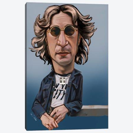 Lennon Canvas Print #EVW28} by Evan Williams Art Print