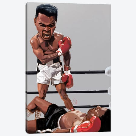 Ali Rumble Canvas Print #EVW2} by Evan Williams Canvas Print