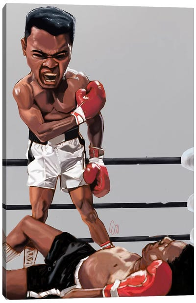 Ali Rumble Canvas Art Print