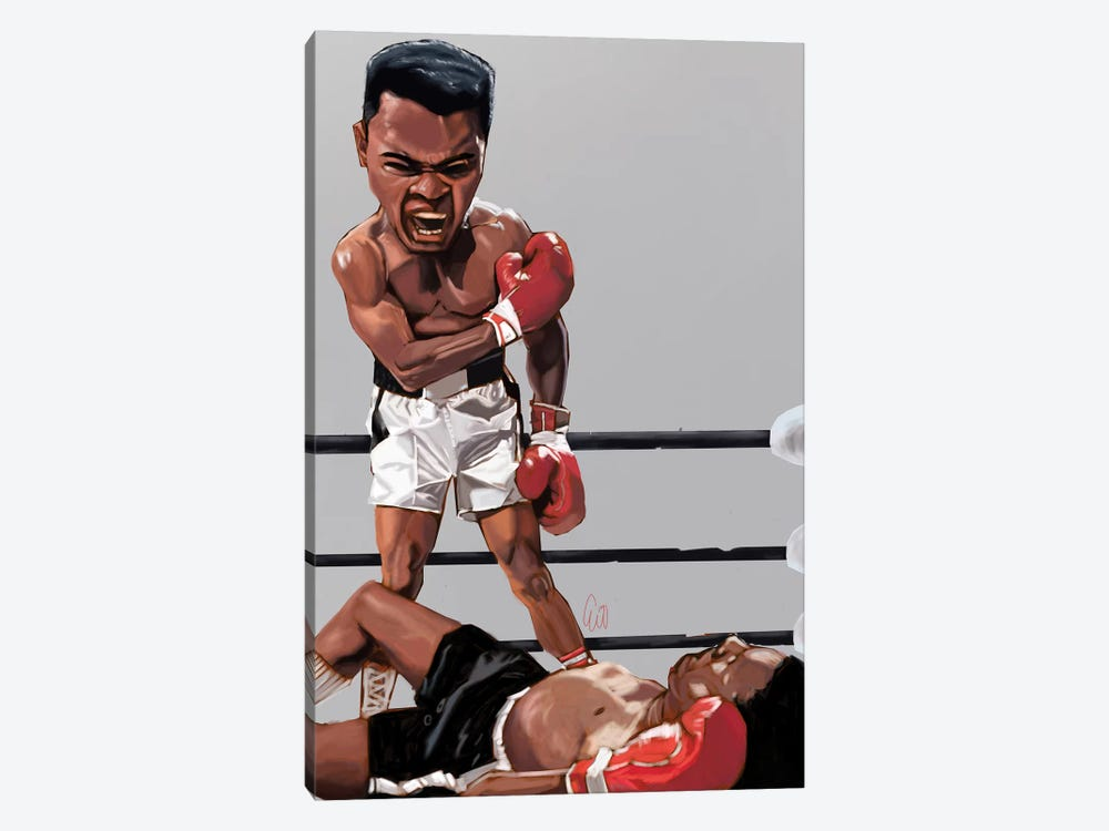 Ali Rumble by Evan Williams 1-piece Canvas Print
