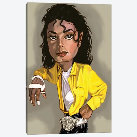 MJ Canvas Print #EVW32} by Evan Williams Canvas Art