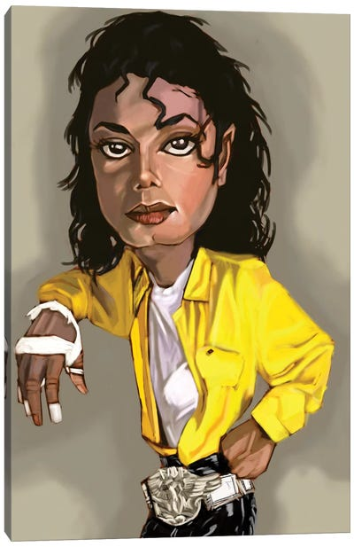 MJ Canvas Art Print