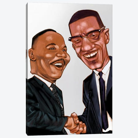 MLK And X Canvas Print #EVW33} by Evan Williams Canvas Artwork