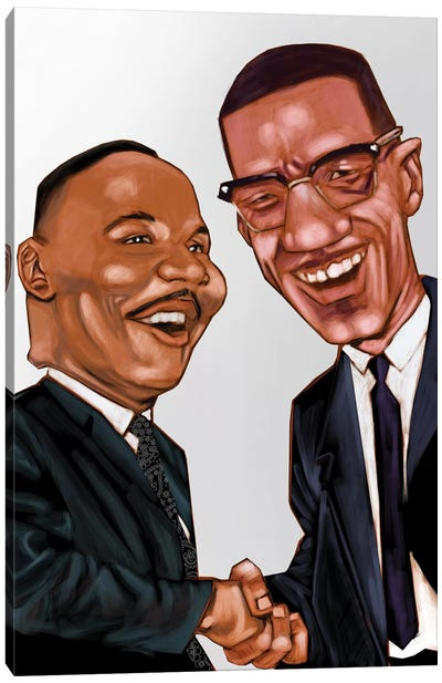 MLK And X Canvas Art Print