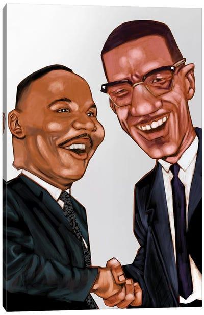 MLK And X Canvas Art Print