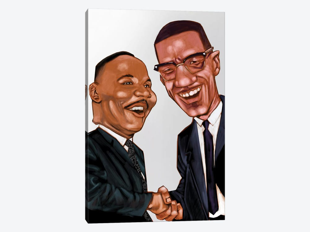 MLK And X by Evan Williams 1-piece Canvas Wall Art