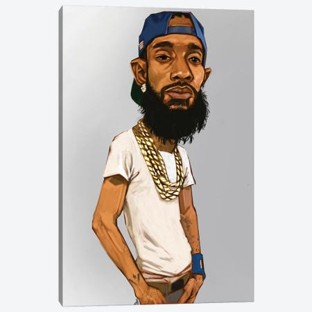 Nipsey Hussle Canvas Print #EVW35} by Evan Williams Canvas Art Print