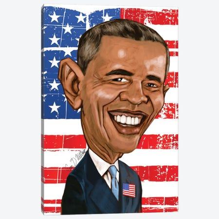 Obama Canvas Print #EVW36} by Evan Williams Art Print