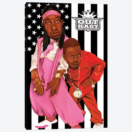 Outkast Canvas Print #EVW37} by Evan Williams Art Print