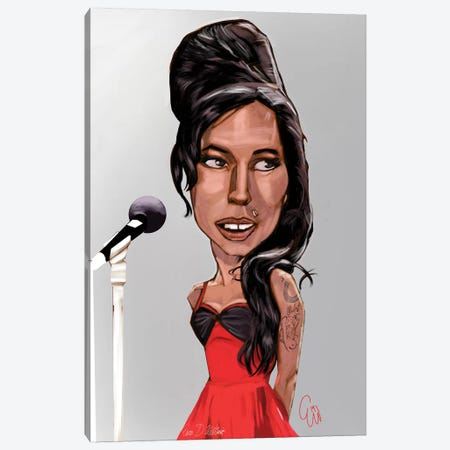 Amy Winehouse Canvas Print #EVW3} by Evan Williams Canvas Print