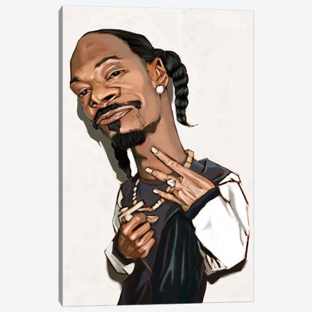 Snoop Dogg Canvas Print #EVW42} by Evan Williams Canvas Art Print