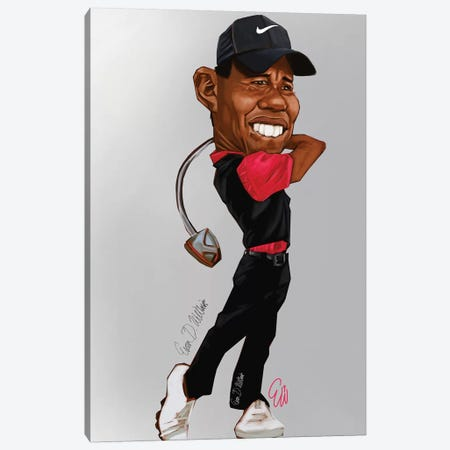 Tiger Woods Canvas Print #EVW49} by Evan Williams Canvas Print