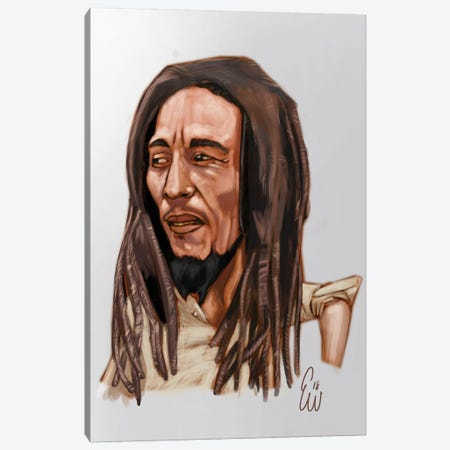 B. Marley Canvas Print #EVW4} by Evan Williams Canvas Art