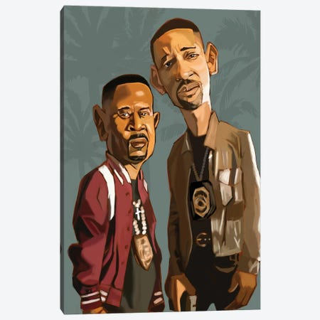 Bad Boys 4 Life Canvas Print #EVW5} by Evan Williams Canvas Wall Art