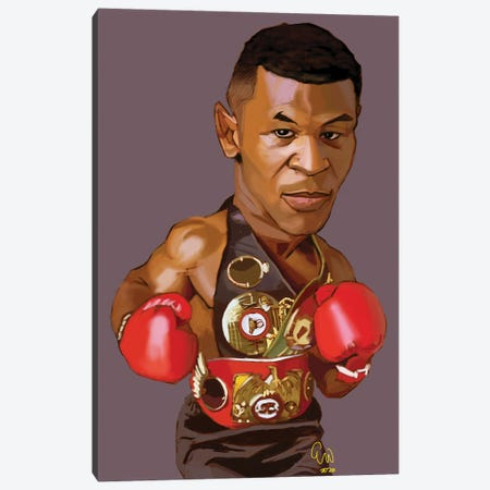 Iron Mike Canvas Print #EVW62} by Evan Williams Canvas Art Print
