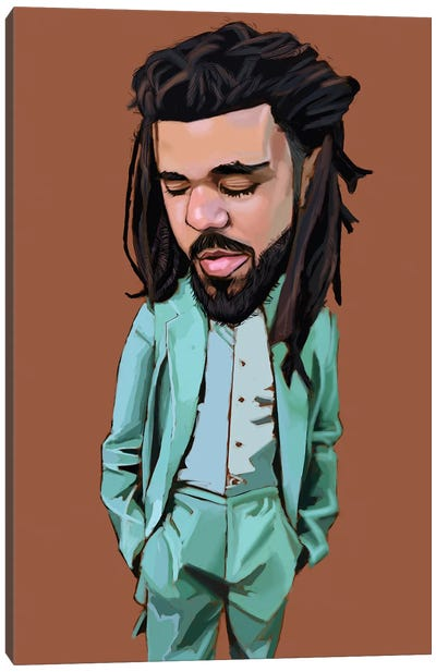 J Cole Canvas Art Print