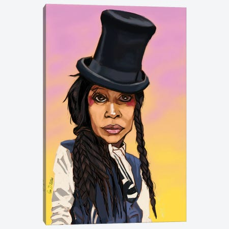 Badu Canvas Print #EVW6} by Evan Williams Canvas Artwork