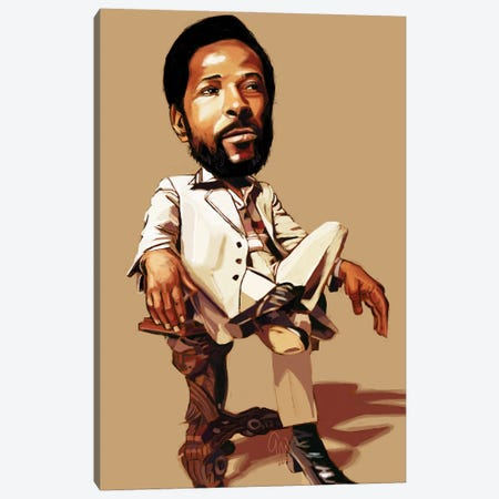 Marvin Gaye Canvas Print #EVW78} by Evan Williams Canvas Wall Art