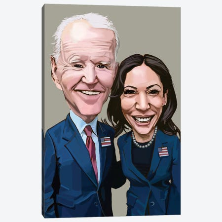 Biden + Harris Canvas Print #EVW82} by Evan Williams Canvas Print