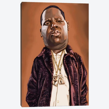 Biggie Smalls Canvas Print #EVW8} by Evan Williams Art Print