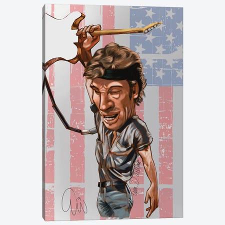 Bruce Springsting Canvas Print #EVW9} by Evan Williams Canvas Art Print
