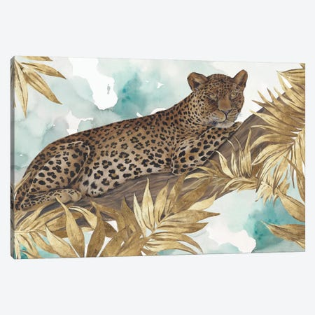 Golden Leopard  Canvas Print #EWA100} by Eva Watts Canvas Artwork