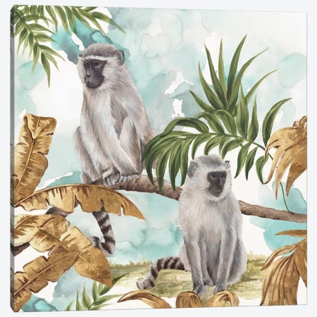 Golden Monkeys  Canvas Print #EWA101} by Eva Watts Canvas Art