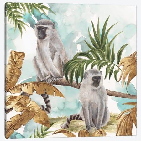 Golden Monkeys  Canvas Print #EWA101} by Eva Watts Canvas Art