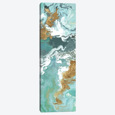 Green Marble II  Canvas Print #EWA105} by Eva Watts Art Print
