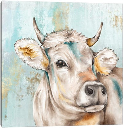 Headstrong Cow I Canvas Art Print