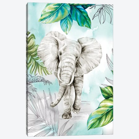 In The Jungle Canvas Print #EWA110} by Eva Watts Canvas Art Print