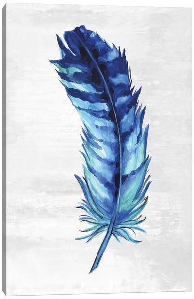 Indigo Feather I Canvas Art Print