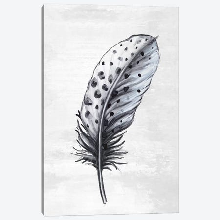 Indigo Feather II Canvas Print #EWA112} by Eva Watts Canvas Print