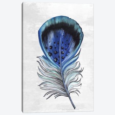 Indigo Feather III Canvas Print #EWA113} by Eva Watts Art Print