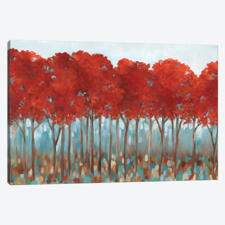 Red Rover Canvas Print #EWA121} by Eva Watts Canvas Artwork