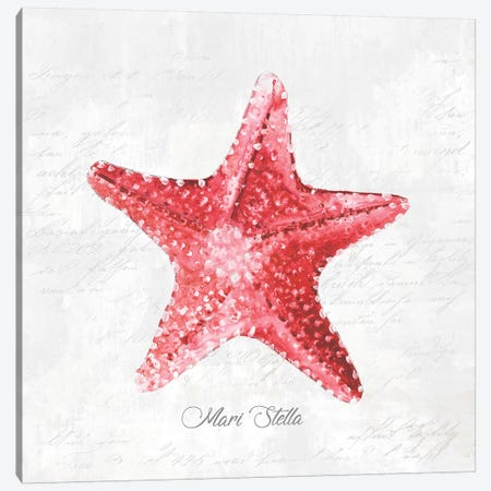 Red Starfish  Canvas Print #EWA124} by Eva Watts Canvas Art Print