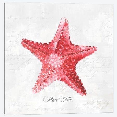 Red Starfish  Canvas Print #EWA124} by Eva Watts Canvas Art Print