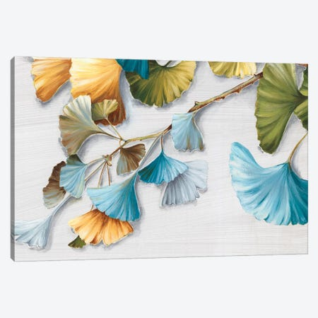 Romantic Gingko II Canvas Print #EWA128} by Eva Watts Canvas Artwork