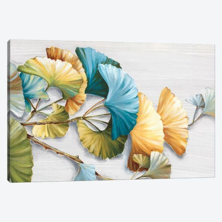 Romantic Ginkgo I Canvas Print #EWA129} by Eva Watts Canvas Art