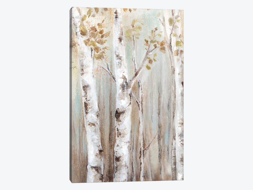Sunset Birch Forest I  by Eva Watts 1-piece Canvas Artwork